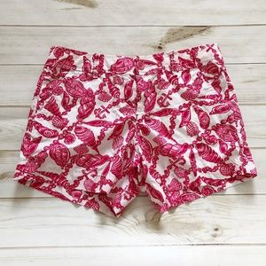 Lilly Pulitzer Seashell and Anchor Cotton Shorts